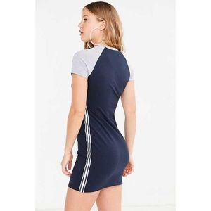 Urban outfitters sporty fitted mini t-shirt dress